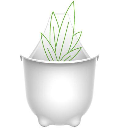 plastic pot design