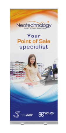 pull up banner design neo technology
