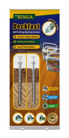 pull up banner design deckfast screws