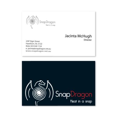 business card design snap dragon