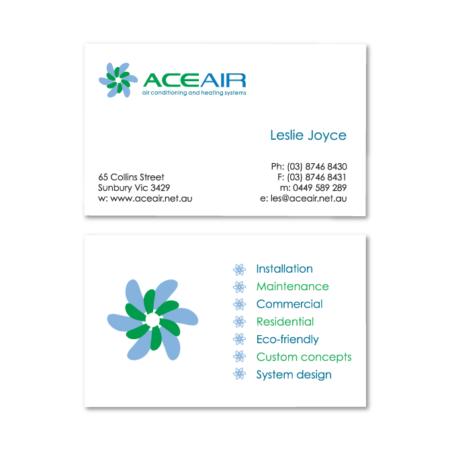 business cards design aceair