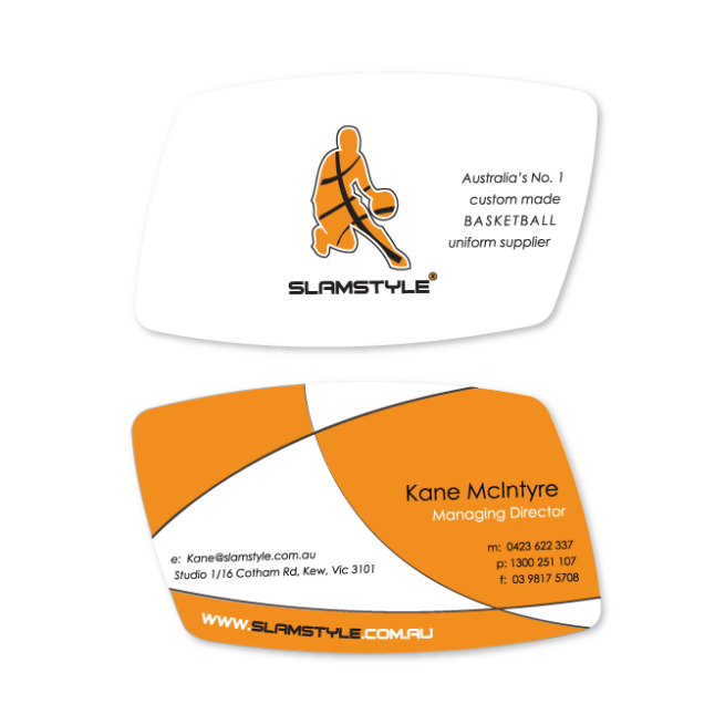 Business cards and stationery design sydney business card design slamstyle basketball reheart Choice Image