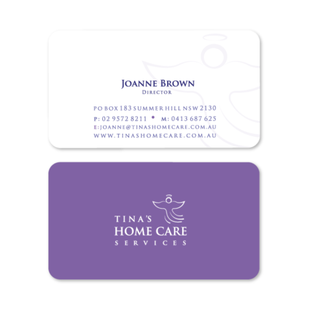 business cards design home care
