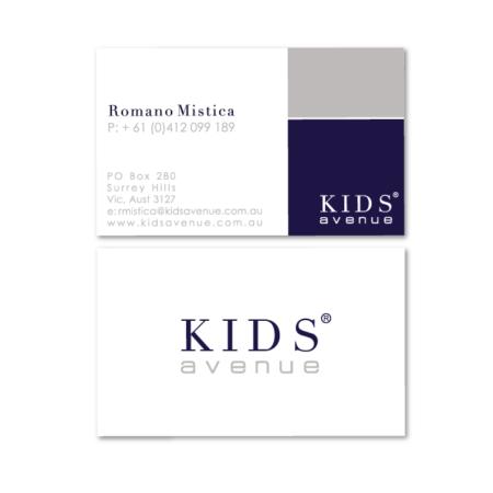 business cards design kids avenue