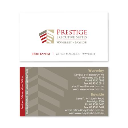 business cards design prestige suites