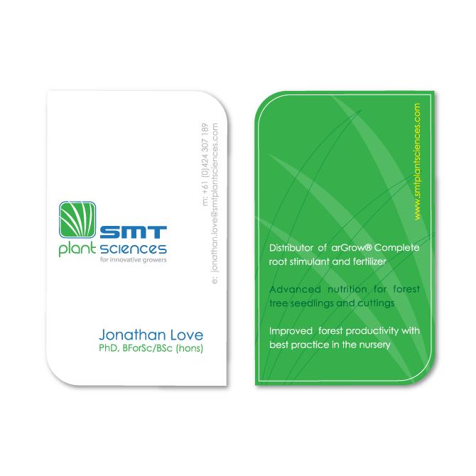 Business card design smt plant science business cards design smt reheart Gallery