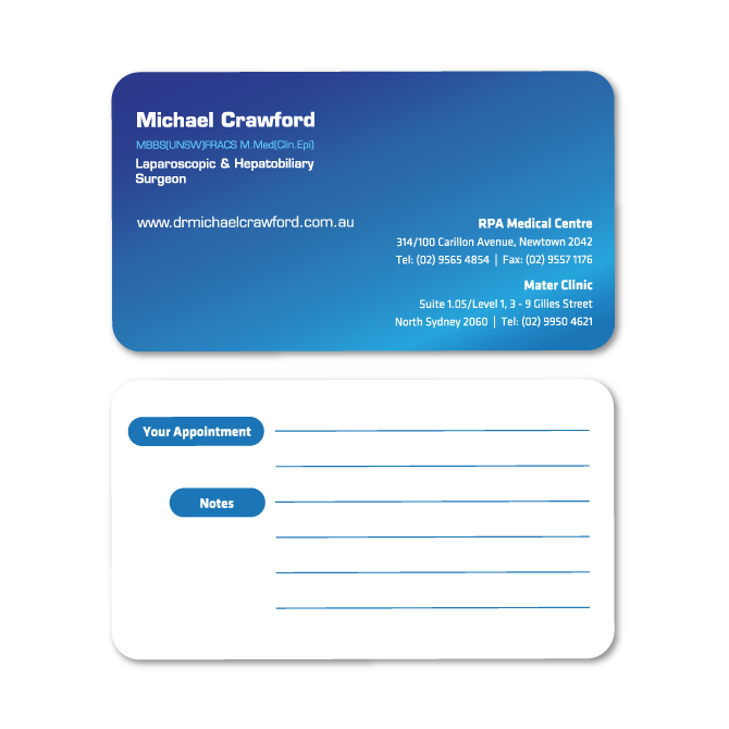 Business card design surgeon business cards design doctor crawford reheart Choice Image
