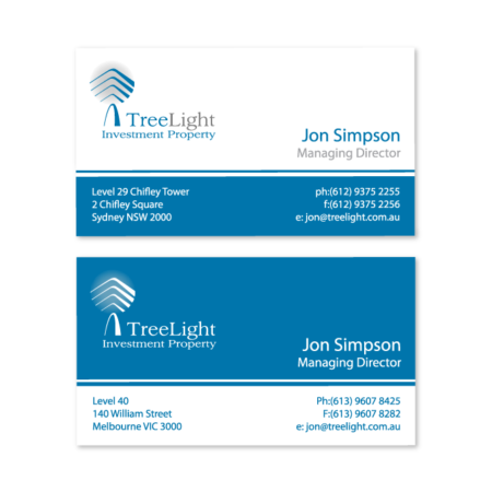 business cards design treelight