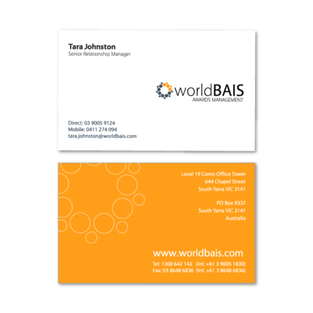 business cards design worldbais