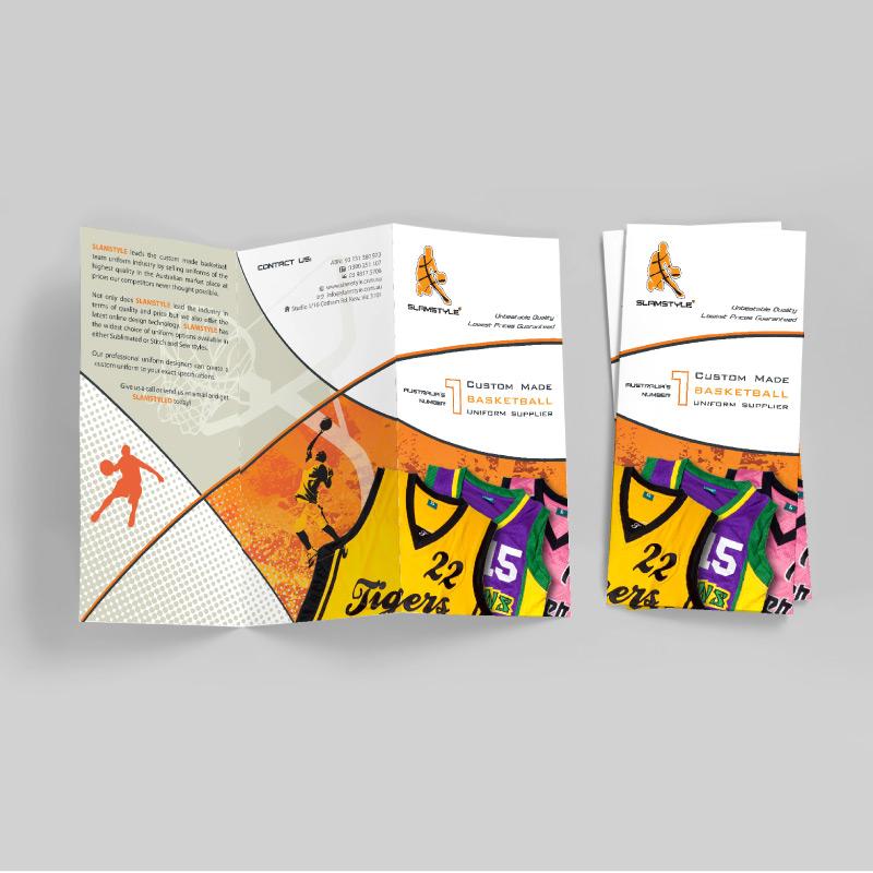 dl brochure design basketball uniforms