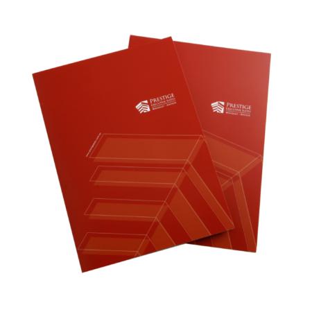 presentation folder design prestige suites